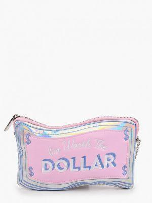 Кожаная сумка через плечо - розовая Skinnydip