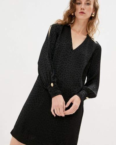Повседневное черное повседневное платье Cavalli Class