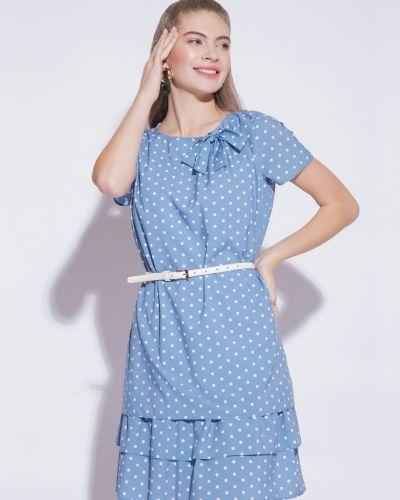 Прямое белое платье из вискозы Electrastyle