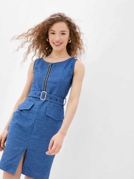 Джинсовое платье синее весеннее Moki