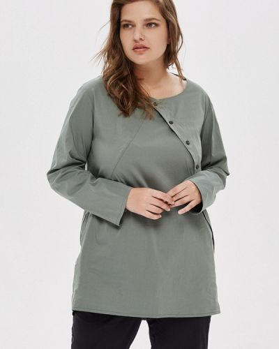 Блузка зеленый хаки W&b