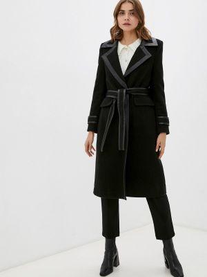 Черное демисезонное пальто Silvian Heach