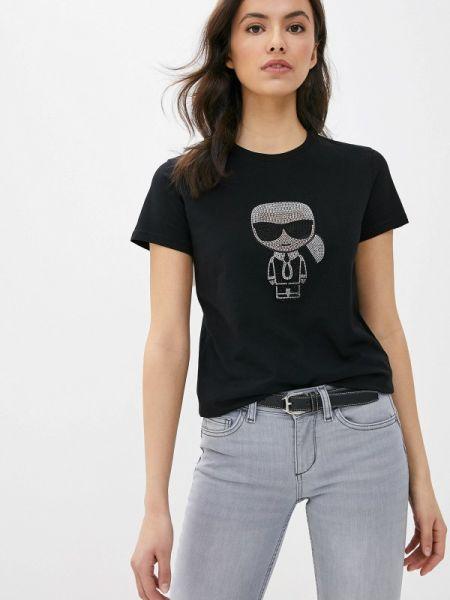 Поло черное футбольный Karl Lagerfeld