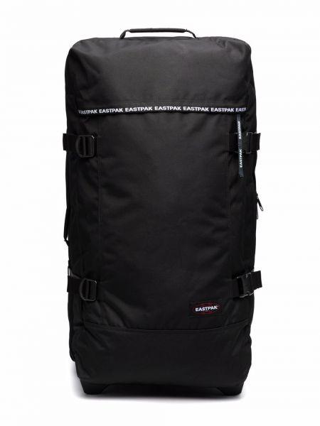 Черная сумка на молнии с карманами Eastpak