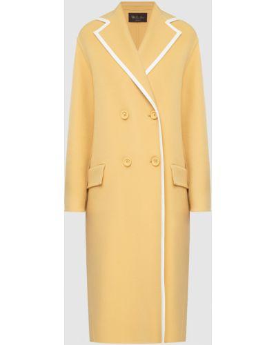 Желтое кашемировое пальто Loro Piana