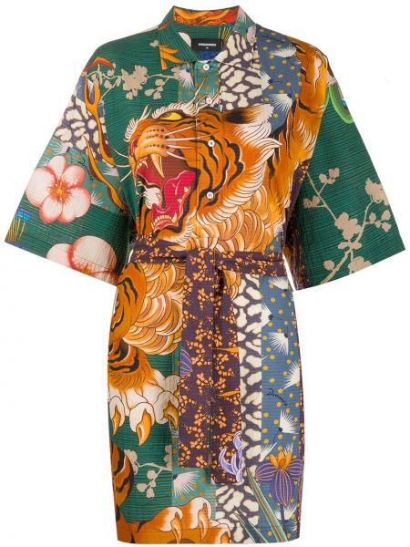 Платье мини на пуговицах классическое Dsquared2