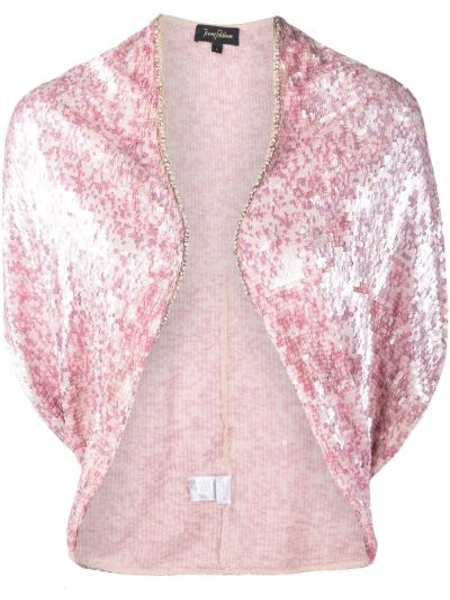 Розовый топ с длинными рукавами с драпировкой Jenny Packham