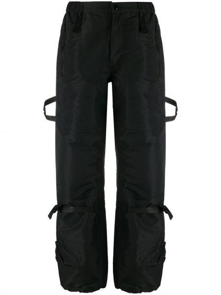 Черные укороченные брюки N°21