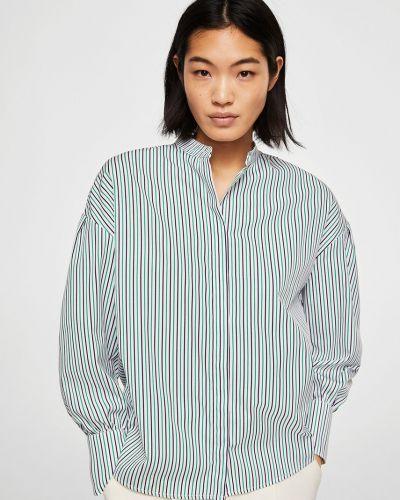 Зеленая блузка прямая Mango