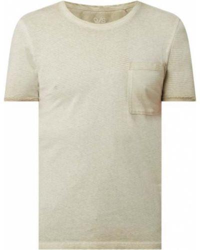 T-shirt bawełniana - beżowa Q/s Designed By