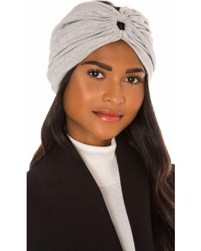 Bawełna jedwab turban z falbankami rozciągać Norma Kamali