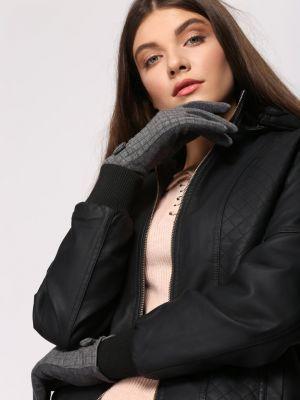 Szare rękawiczki materiałowe Renee