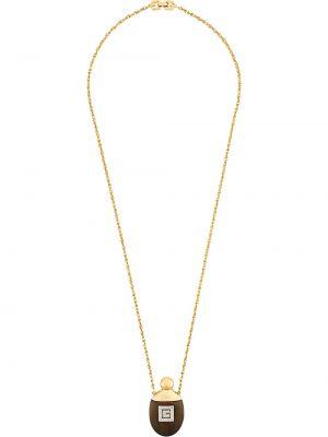 Желтое ожерелье с подвесками металлическое Givenchy Pre-owned