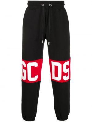 Хлопковые спортивные брюки - черные Gcds