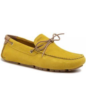 Żółte mokasyny Geox