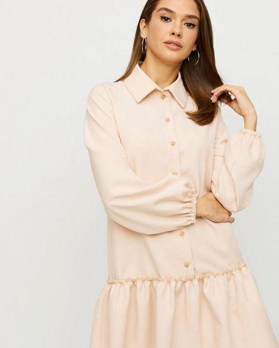 Бежевое платье-рубашка Karree