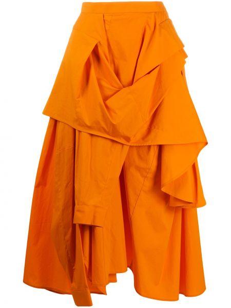 Bawełna pomarańczowy bawełna spódnica midi Enfold