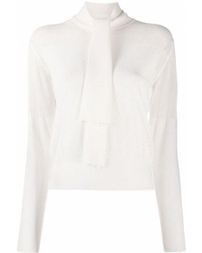 Z rękawami biały zworki z mankietami z wiskozy See By Chloe