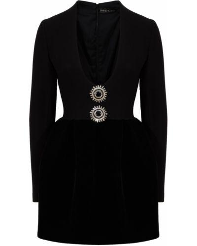 Платье из вискозы - черное David Koma