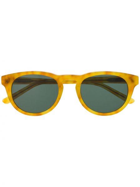 Прямые муслиновые желтые солнцезащитные очки круглые Han Kjøbenhavn