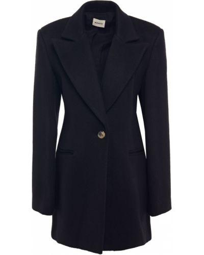 Шерстяной черный пиджак с карманами Khaite
