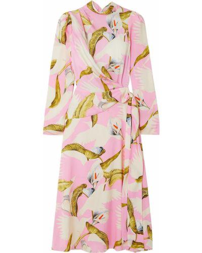 Шелковое платье миди с подкладкой Temperley London