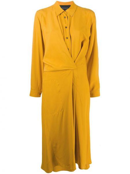 Платье миди макси на пуговицах Cedric Charlier