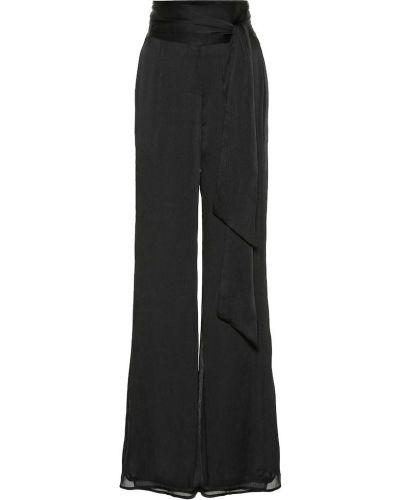 Черные расклешенные брюки Galvan