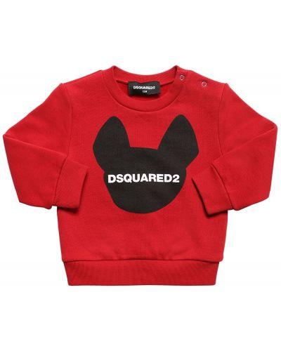 Свитшот с логотипом на шею Dsquared2