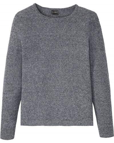 Хлопковый пуловер с вырезом круглый Bonprix