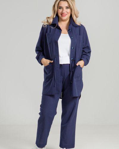 Летние брюки с завышенной талией льняные Luxury