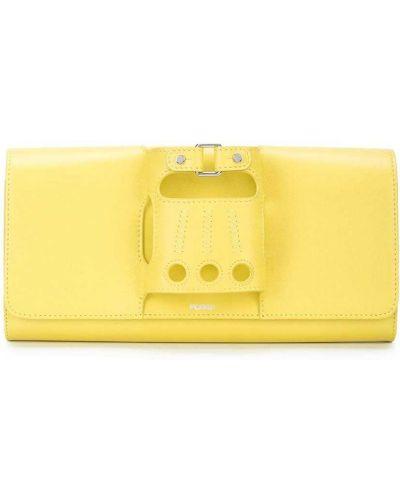 Кожаная желтая сумка Perrin Paris