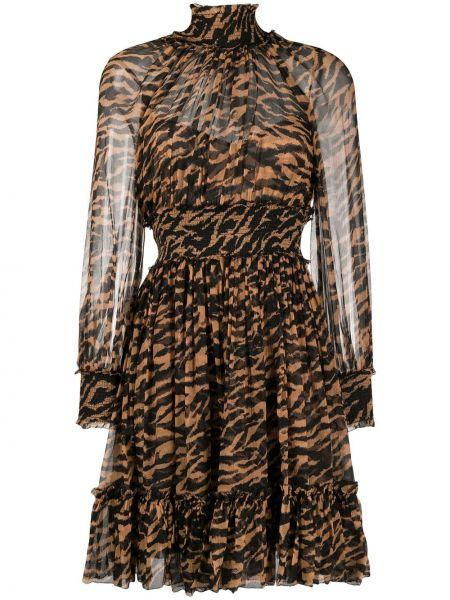 Платье с поясом с рукавами расклешенное Zimmermann