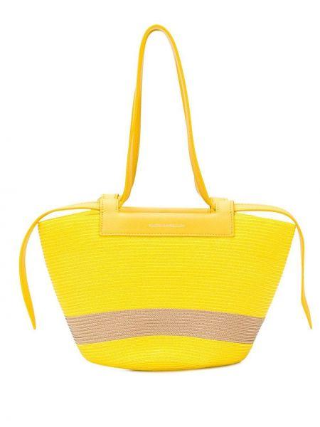 Желтая сумка-тоут Elena Ghisellini