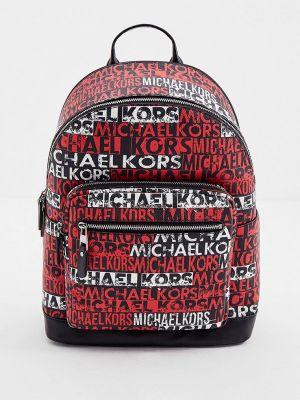 Кожаный рюкзак - красный Michael Kors