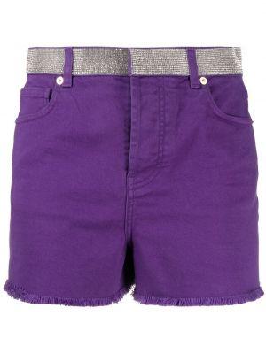 Фиолетовые хлопковые шорты с карманами Alexandre Vauthier