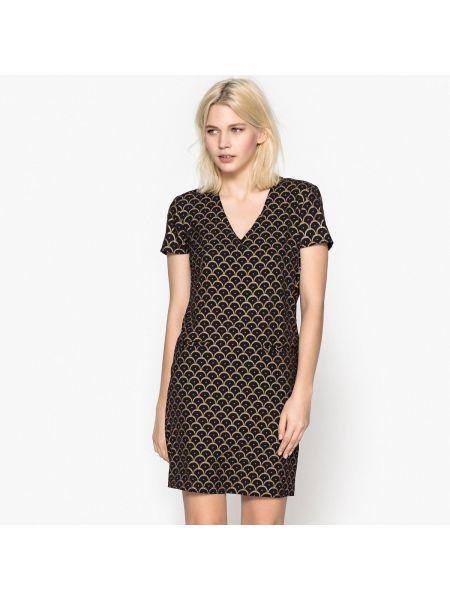 Платье миди мини с V-образным вырезом Only
