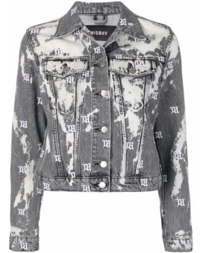 Серая джинсовая куртка с манжетами на пуговицах Misbhv