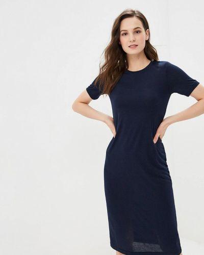 Платье футболка синее Befree