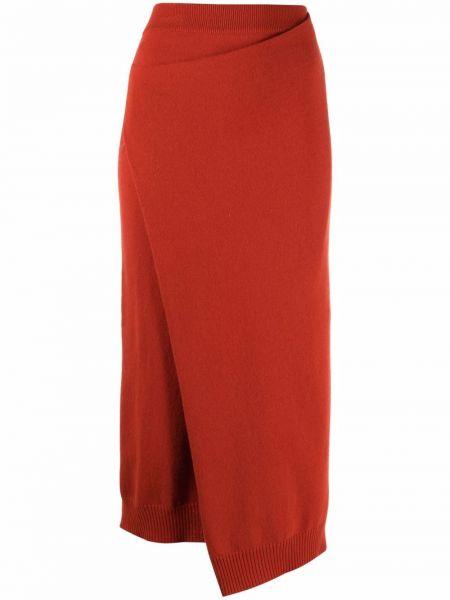 Трикотажная юбка миди - красная Kenzo
