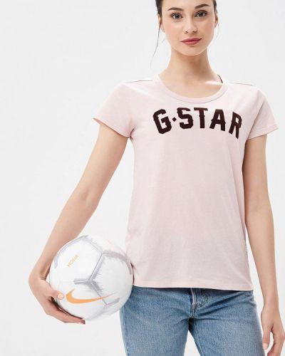 Розовая футболка G-star
