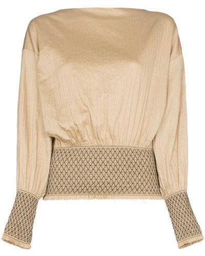Блузка спущенная бежевый Toteme