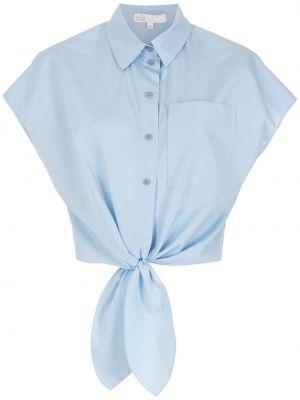 Синяя рубашка с коротким рукавом с короткими рукавами НК