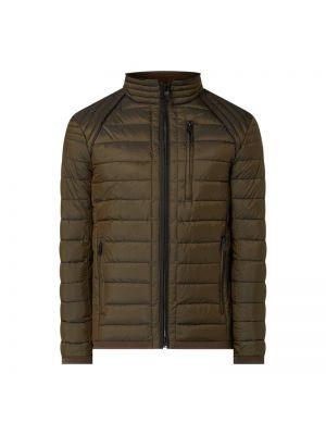 Zielona ciepła kurtka w paski Wellensteyn
