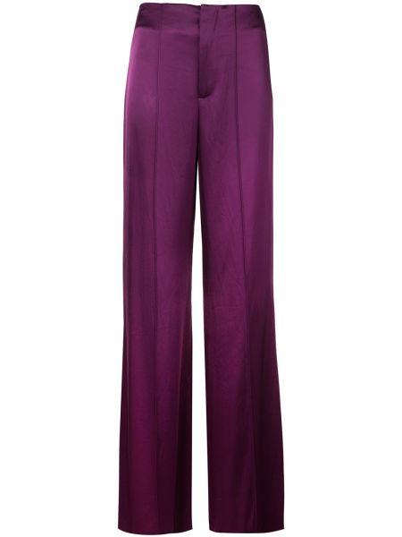 Фиолетовые свободные брюки свободного кроя с высокой посадкой с карманами Alice+olivia