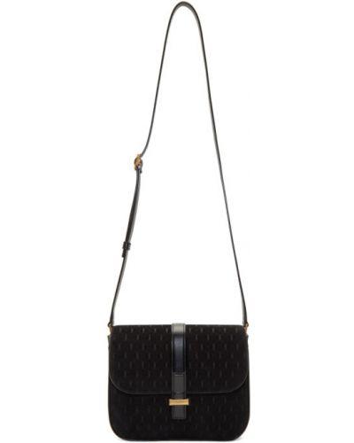 Черный кожаный ранец с карманами Saint Laurent