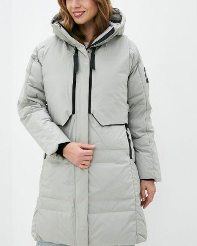 Серый пуховик Adidas