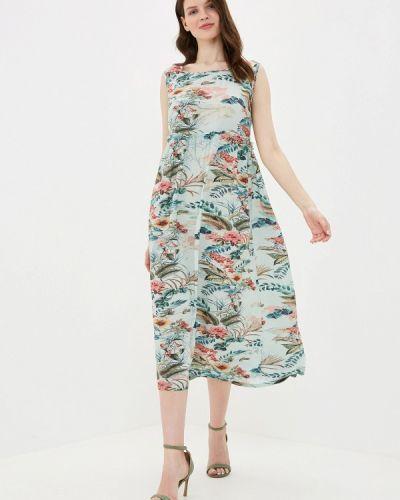 Платье бирюзовый прямое Vis-a-vis