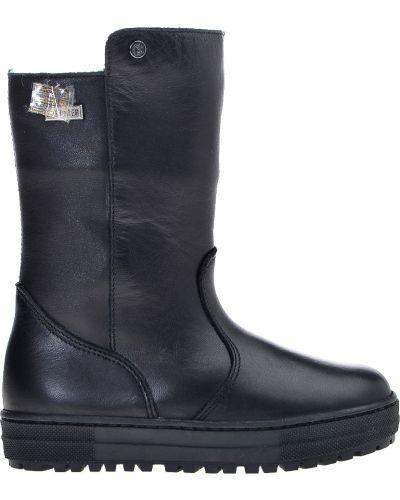 Сапоги кожаный черный Naturino