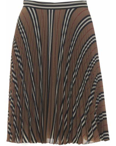 Spódnica maxi z paskiem z jedwabiu Burberry